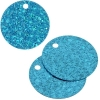 Sequins Hologram 40mm 4mm Hole Round Aqua
